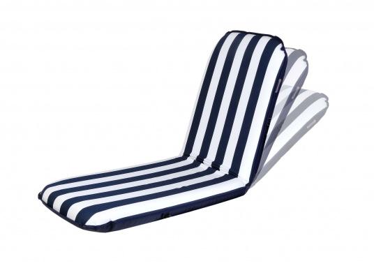 """Mobiler Sitzkomfort an Bord, beim Camping, im Garten und am Strand. Der Comfort Seat """"groß"""" bietet Sitzkomfort in 6 Postionen und eine längere Rückenlehne."""