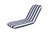 Comfort Seat / large - blue and white striped