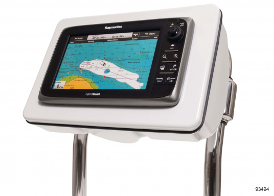 SPOD device holders bySEAVIEW for almost all chartplotters and instruments. Available in 5 different sizes. Fit for most steering pedestals / control columns made by Jefa, Whitlock and Edson.