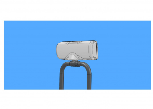 SPOD device holders bySEAVIEW for almost all chartplotters and instruments. Available in 5 different sizes. Fit for most steering pedestals / control columns made by Jefa, Whitlock and Edson.  (Afbeelding 7 of 10)