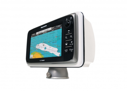 DPOD device holders have been designed for motor boats. With three different sizes there is the right mount for almost any plotter. The rotating base allows a rotation angle of up to 350 ° to the left and to the right.