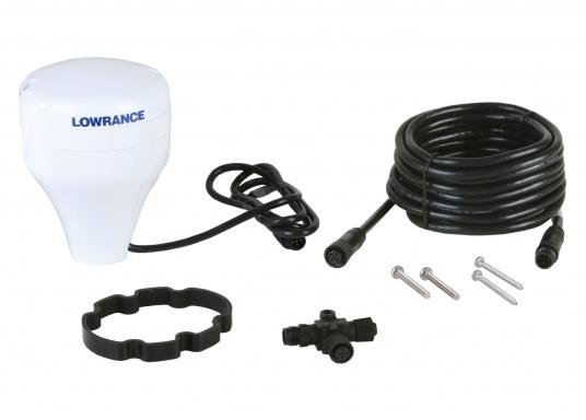 Die Lowrance Point-1 GPS Antenne ist genau die richtige Wahl für Wassersportler, die ein extrem schnelles und genaues GPS Signal verlangen.