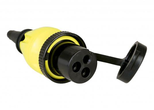 MP16-Kupplungsstecker für Landstrom-Übernahmedosen von MASTERVOLT oder anderen Anbietern.