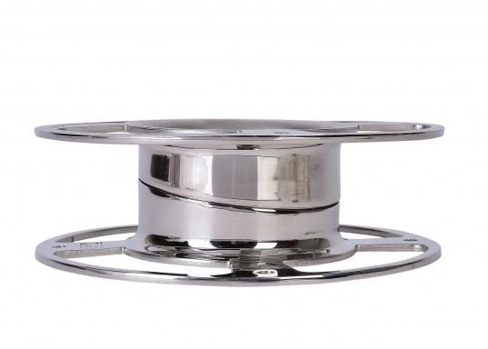 GLOMEX - Montagefuß einstellbar (0 - 5°). Abmessungen: Durchmesser: 240 mm, Höhe: 80 mm.