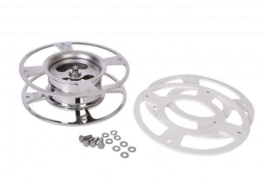 GLOMEX - Montagefuß einstellbar (0 - 5°). Abmessungen: Durchmesser: 240 mm, Höhe: 80 mm.  (Bild 4 von 4)