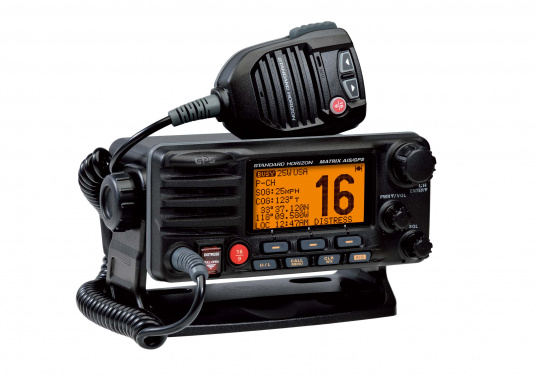 The GX2200E by STANDARD HORIZON is the first compact Class D DSC radio system with integrated GPS and AIS receiver. It features an embedded 66-channel GPS receiver and an integrated splitter for use of VHF and AIS receivers with a single FM antenna.