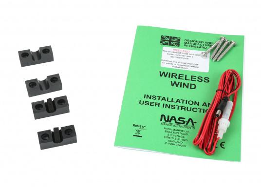 Dieser kabellose Windmessgeber von NASA mit NMEA0183 Ausgang kommt ohne Kabel im Mast aus. Der mitgelieferte Empfänger wird über das 12 V Bordnetz mit Spannung versorgt und gibt Windrichtung und -Geschwindigkeit an jedes NMEA0183-kompatible Instrument aus. (Bild 4 von 4)