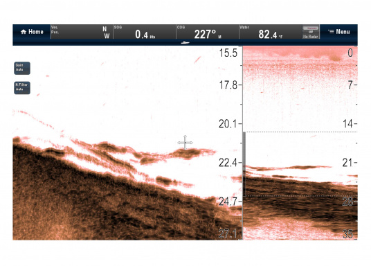 """Weitblick unter Wasser - Sehen Sie """"echte"""" Unterwasserwelt unter Ihrem Boot mit der CHIRP DownVision™Technologie von Raymarine.  (Bild 7 von 16)"""