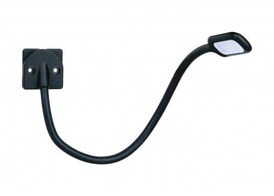 Hochflexibel und vielseitig einsetzbar. Diese LED-Leseleuchte mit allseitig biegsamem Arm ist ideal für Wassersport, Camping und Auto geeignet. Das warme und blendfreie Licht sorgt für eine angenehme Beleuchtung.  (Bild 2 von 4)