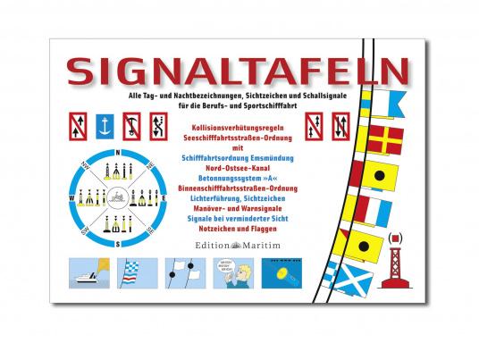 Enthält alle Tag- und Nachtsignale, Sichtzeichen und Schallsignale für die Berufs- und Sportschifffahrt, wie z.B. Sichtzeichen, Warnsignale, Notzeichen und Flaggen, aber auch Seeschifffahrtsverordnungen.