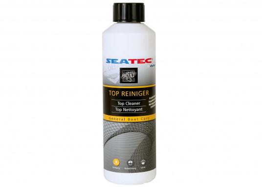 Highly concentrated cleaner/degreaser, which is used as a pre-treatment agent before the application of polish or wax coatings. SEATEC Top Cleaner removes surface dirt and grease, oil, and traces of old wax or silicone coatings. (Image 1 of 1)