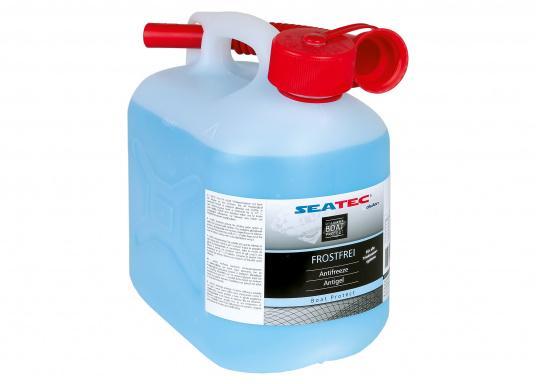 L&#39&#x3B;antigel SEATEC protège les réseaux d&#39&#x3B;eau potable et des toilettes à bord. Il est biodégradable et non toxique.