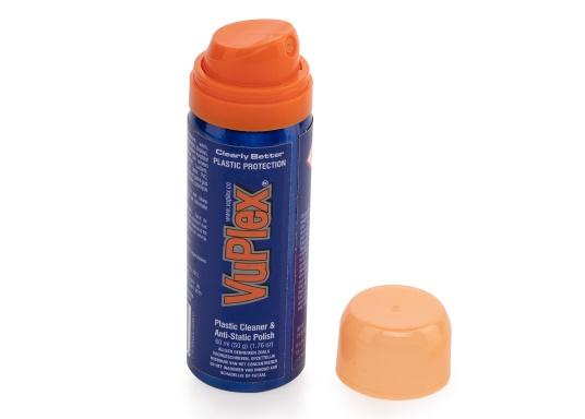 Der VUPLEX Kunststoffreiniger reinigt, schützt und poliert auf einfache Art und Weise alle klaren und farbigen Kunststoffe, ohne dabei die Oberfläche anzugreifen.  (Bild 2 von 8)