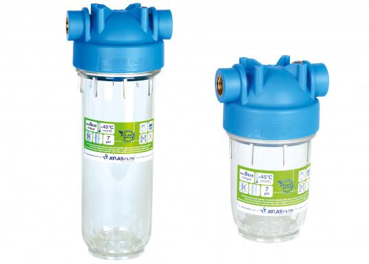 Die ATLAS Trinkwasserfilter filtern sämtliche Verunreinigungen und andere organische Stoffe aus Ihrem Trinkwasser. Es wird empfohlen, die Filterpatrone mindestens zweimal pro Jahr auszutauschen.
