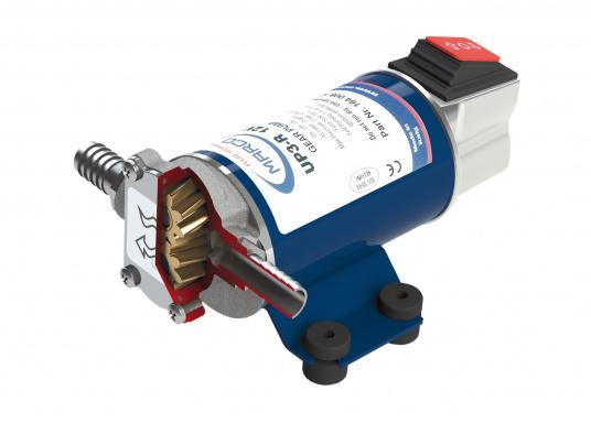 Professionelle Zahnradpumpe zum Umpumpen von Diesel, Öl, Wasser und sonstigen Flüssigkeiten. Die Pumpe fördert in beide Richtungen und kann direkt am Gehäuse geschaltet werden.