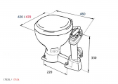 RM69 - SEALOCK Manual Marine Toilet
