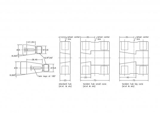 Äußerst schön verarbeitete Steuerräderfür Yachten und Segelboote. Der doppelte Umlauf besteht aus hochwertigem Teak und Edelstahl. CE zugelassen und RINA, EN sowie ISO zertifiziert. (Bild 4 von 4)