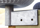 Pare-battage fixe avec support galvanisé