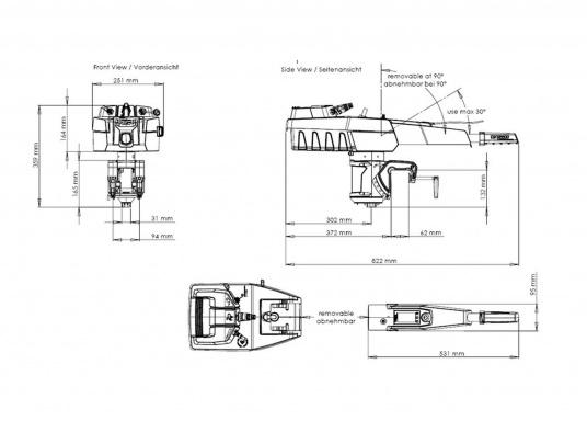 Der Torqeedo TRAVEL 503 S in der Kurzschaftversion wird mit über 500 Watt Eingangsleistung angeboten und ist in der Vortriebsleistung mit einem 1,5 PS Benzin-Außenborder vergleichbar.  (Bild 7 von 8)