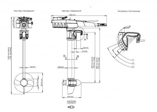 Der Torqeedo TRAVEL 503 S in der Kurzschaftversion wird mit über 500 Watt Eingangsleistung angeboten und ist in der Vortriebsleistung mit einem 1,5 PS Benzin-Außenborder vergleichbar.  (Bild 8 von 8)