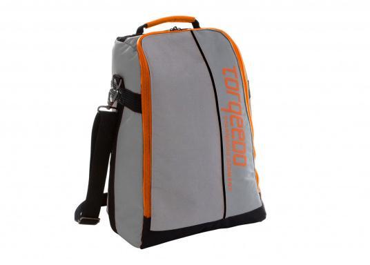 TORQEEDO - Transporttaschenset für Elektro - Außenborder TRAVEL 503/ 603 / 1003 / 1103. Bestehend aus zwei Taschen: Eine Tasche für den Motor (inklusive Pinne und Zubehör) und eine Tasche für den Akku.  (Bild 6 von 9)
