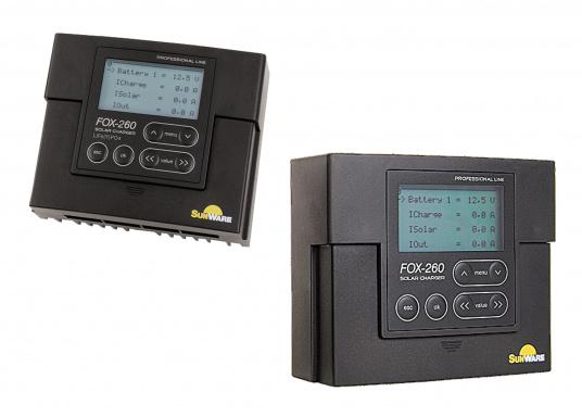 Der FOX-260 Lithium ist ein speziell für LiFe(Y)PO4 Batterien entwickelter Solar-Laderegler für 1 Batteriesystem und Modulströme bis zu 20 A. Anhand der vom Hersteller der Batterie zur Verfügung gestellten Datenblätter werden die Parameter im Regler gesetzt.