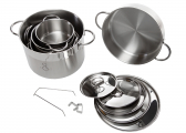Stainless steel cookware set / 11 pieces