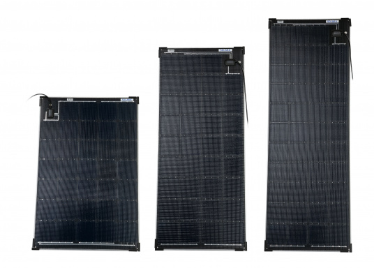 Die Solarmodule der Power M-Serie überzeugen durch hohe Effizienz und attraktives Design. Die Höhe des Modul-Aufbaus beträgt lediglich 5 mm. Die Module können bis zu einer Krümmung von maximal 3 % überall montiert werden und sind bei komplettflächiger fester Anbringung begehbar.
