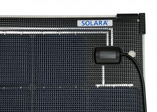 Die Solarmodule der Power M-Serie überzeugen durch hohe Effizienz und attraktives Design. Die Höhe des Modul-Aufbaus beträgt lediglich 5 mm. Die Module können bis zu einer Krümmung von maximal 3 % überall montiert werden und sind bei komplettflächiger fester Anbringung begehbar.  (Bild 6 von 8)