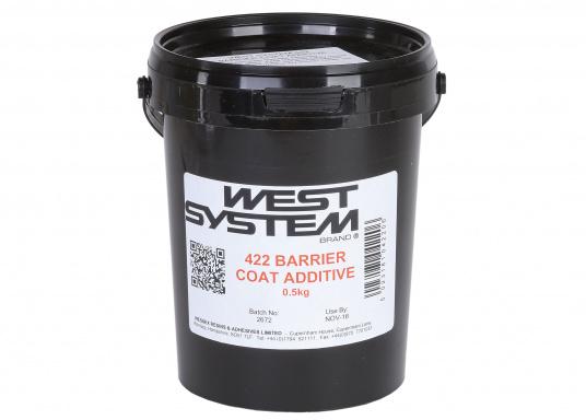 Auf Aluminiumbasis formulierter Füller, der die Wirksamkeit des Feuchteausschlusses vonWEST SYSTEM Epoxidharzverbessert und das Auftreten von Gelcoat-Blasen (Osmose) verhindert.