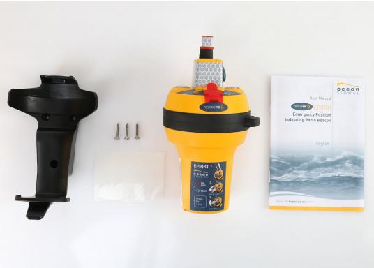 Die weltweit kompakteste EPIRB Seenotboje wird mit einer Wandhalterung für die Montage im Schiff geliefert und kann somit immer in Reichweite installiert werden. Mit integriertem 66-Kanal GPS-Empfänger.  (Bild 8 von 13)