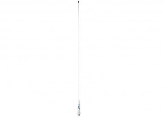 900 mm UKW-Seefunkantenne mit Edelstahl-Strahler. Gewinn 3dB. FME-Anschluss im Fuß der Antenne. Passende Montagehalter sowie Verklicker/Windrichtungsanzeiger optional als Zubehör lieferbar.
