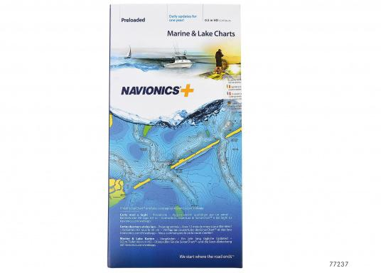 Navionics+ offers more sea and lake content and the best price-to-performance ratio!