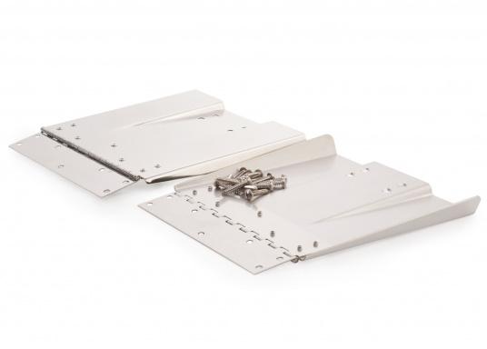 Diese High Performance Trimmklappen bestehen aus hochglanzpoliertem Edelstahl. Erhältlich in verschiedenen Größen für verschiedene Bootsgrößen.