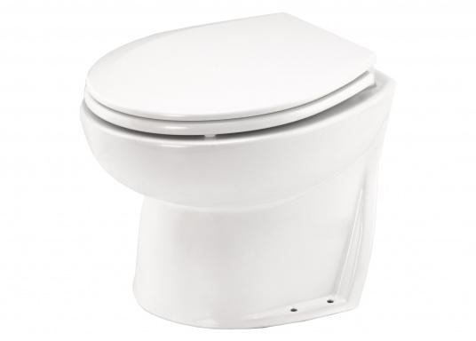 Formschönes Bord-WC in elegantem, platzsparendem Design. Die Jabsco Toilette wird mit einer extern zu montierenden, selbstansaugenden Seewasserpumpe und einem Pumpguard™-Sieb geliefert.  (Bild 2 von 9)
