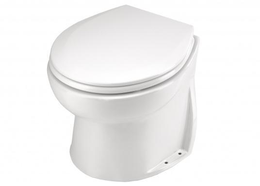 Formschönes Bord-WC in elegantem, platzsparendem Design. Die Jabsco Toilette wird mit einer extern zu montierenden, selbstansaugenden Seewasserpumpe und einem Pumpguard™-Sieb geliefert.  (Bild 3 von 9)