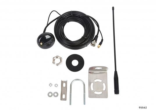 Passive AIS-GPS Kombi-Antenne für GPS-Empfang und AIS-Aussendung für den Einsatz an AIS-Transpondern. Kabellänge: 6 m, TNC-Adapter.  (Bild 5 von 5)