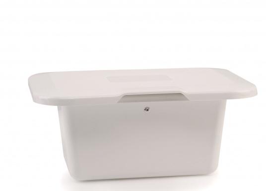 Einbaunische mit Tür, ideal geeignet als Sicherungskasten. Beschläge und Scharnierachsen aus verstärktem Kunststoff.  (Bild 6 von 7)