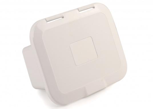 Einbaunische mit Tür, ideal geeignet als Sicherungskasten. Beschläge und Scharnierachsen aus verstärktem Kunststoff.  (Bild 4 von 7)