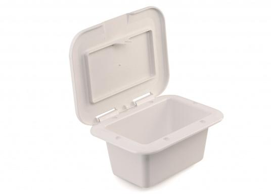 Einbaunische mit Tür, ideal geeignet als Sicherungskasten. Beschläge und Scharnierachsen aus verstärktem Kunststoff.  (Bild 5 von 7)