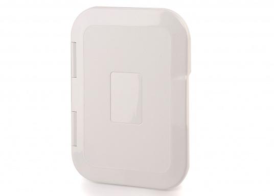Einbaunische mit Tür, ideal geeignet als Sicherungskasten. Beschläge und Scharnierachsen aus verstärktem Kunststoff.  (Bild 2 von 7)