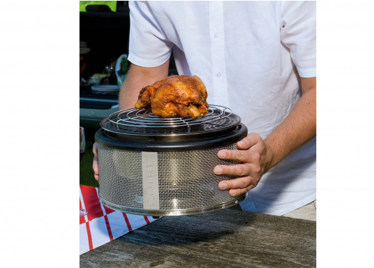 Für Grillmeister! Ein indirektes Grillen wird mit diesem Aufsatz möglich, besonders geeignet für Braten, Hähnchen und mariniertes Fleisch. (Bild 4 von 5)