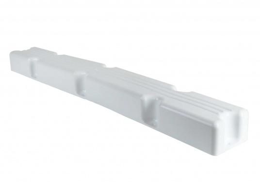 Ideale Fender für Anlege- und Schwimmstege in Weiß. Gerade Ausführung, für das Abpolstern des Steges. Maße Pontonfender: 100 x 12 x 7 cm.  (Bild 4 von 5)