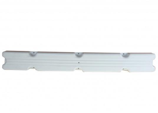 Ideale Fender für Anlege- und Schwimmstege in Weiß. Gerade Ausführung, für das Abpolstern des Steges. Maße Pontonfender: 100 x 12 x 7 cm.