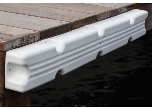 Ideale Fender für Anlege- und Schwimmstege in Weiß. Gerade Ausführung, für das Abpolstern des Steges. Maße Pontonfender: 100 x 12 x 7 cm.  (Bild 5 von 5)