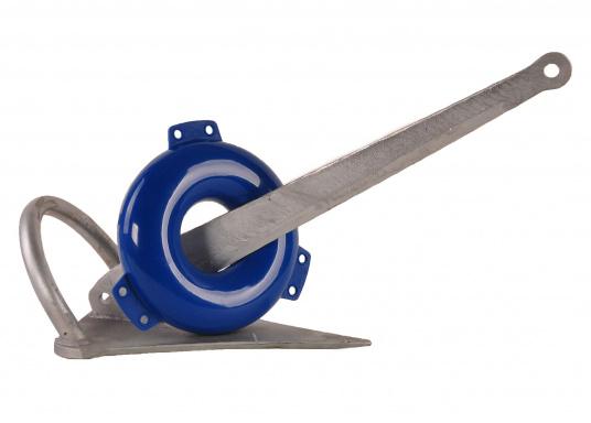 So verursachen Sie keine Beschädigungen mit dem Anker! Dieser aufblasbare PVC-Ringfender bietet wirkungsvollen Schutz. Farbe: blau. (Bild 2 von 2)