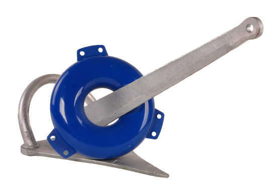 So verursachen Sie keine Beschädigungen mit dem Anker! Dieser aufblasbare PVC-Ringfender bietet wirkungsvollen Schutz. Farbe: blau.