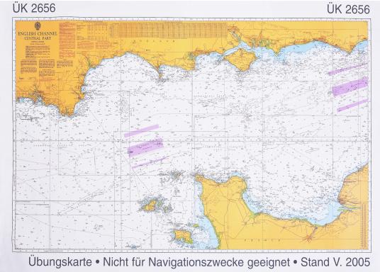 Diese Karten dienen nur zu Übungszwecken für den Sportseeschifferschein und sind nicht zur Navigation geeignet. Die Übungskarte 2656 benötigen Sie für den Sportseeschifferschein und den Sporthochseeschifferschein.