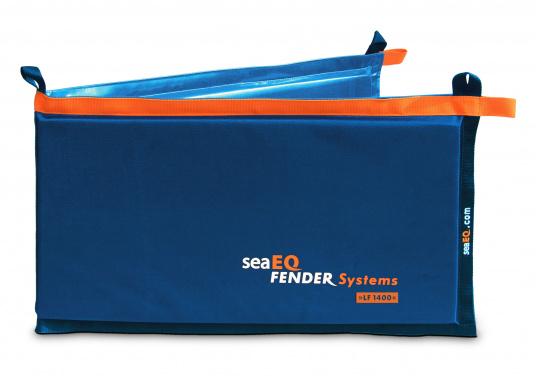 Ihre Yacht ist durch diesen Langfender optimal geschützt. An der Kaje, in der Box oder im Päckchen. Zusammengefaltet als Pack bietet der Fender auch an der Spundwand optimalen Schutz.  (Bild 2 von 5)