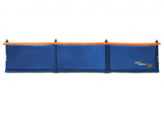 Ihre Yacht ist durch diesen Langfender optimal geschützt. An der Kaje, in der Box oder im Päckchen. Zusammengefaltet als Pack bietet der Fender auch an der Spundwand optimalen Schutz.  (Bild 5 von 5)